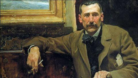 El escritor Benito Pérez Galdós retratado por Sorolla