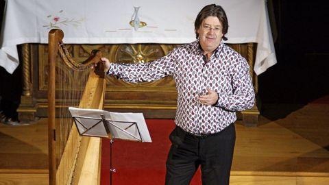 El prestigioso arpista británico Andrew Lawrence-King ofrecerá un concierto en la iglesia románica de Santo Estevo de Ribas de Miño