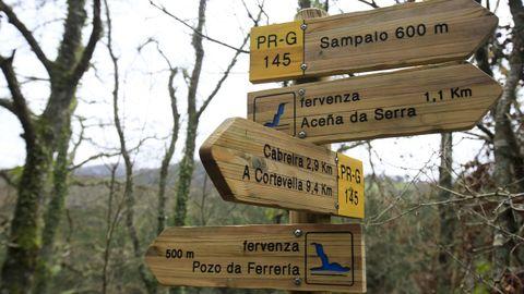 Señalización oficial de la ruta da Marronda