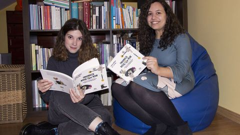 Laura Romero e Iria Pedreira, autoras de «Ferreñas & rock and roll»,  distinguida cun dos premios do II Concurso de ideas Luísa Villalta de proxectos pola igualdade