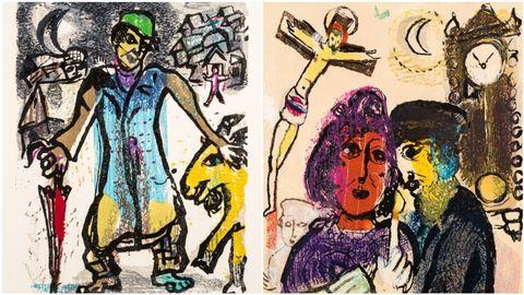 Detalle de dos piezas de la serie «Poèmes», fechada en 1968