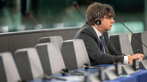 Puigdemont, en el Parlamento Europeo