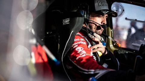 Alonso, dentro de su Toyota