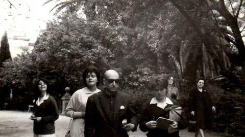 Carballo Calero organizou numerosas viaxes culturais para os alumnos do Colexio Fingo. Aquí, a Extremadura e Andalucía, en 1963