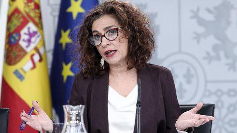 La ministra de Hacienda y portavoz del Gobierno, Maria Jesus Montero