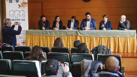 Detalle de la presentación del Mumi Verín'20, encuentro profesional de música entre Galicia y Portugal