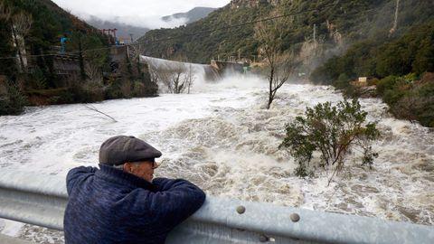 Así está el río Ter a su paso por la presa del Pasteral.