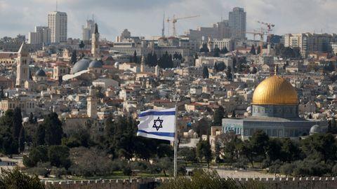 Vista desde el lado israeli de la Explanada de las Mezquitas