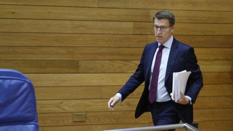 Imagen de archivo de Alberto Núñez Feijoo en el Parlamento de Galicia