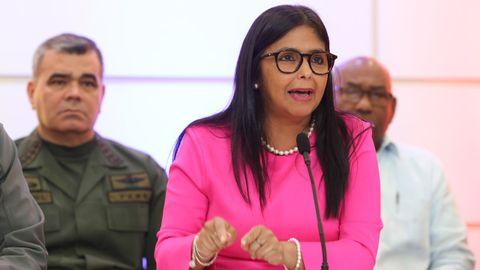 Delcy Rodríguez, vicepresidenta del Ejecutivo de Maduro