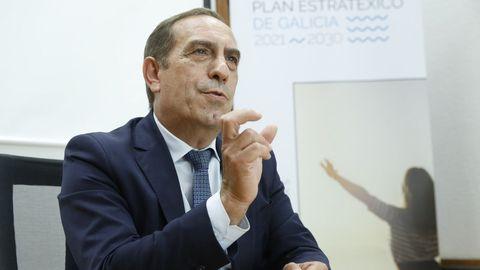 El conselleiro de Facenda, Valeriano Martínez