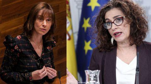 Ana Cárcaba y  María Jesús Montero