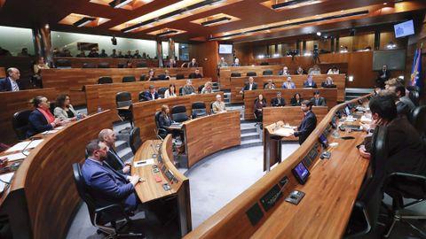 Imagen de archivo de una pleno en la Junta General