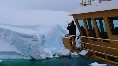 El glaciar del Apocalipsis, de cerca