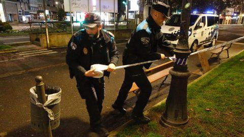 Amplio despliegue policial en los jardines