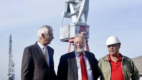 López Veiga, en una visita a Vulcano