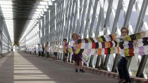 Acto simbólico de hermanamiento de las localidades de Tui y Valença celebrado con motivo del 125.º aniversario del emblemático puente sobre el río Miño