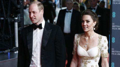 El príncipe Guillermo y la duquesa Cambridge, Kate Middleton, asistieron a la gran velada del cine británico, de los Bafta