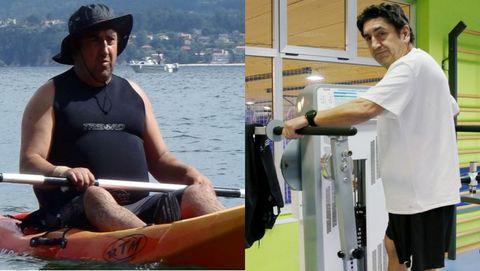 Ignacio de Marco, antes y después de llevar a cabo la receta deportiva de Abegondo