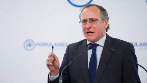 Alfonso Alonso, líder del PP en el País Vasco