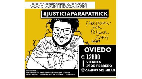 Cartel de la concentración por Patrick George Zaki