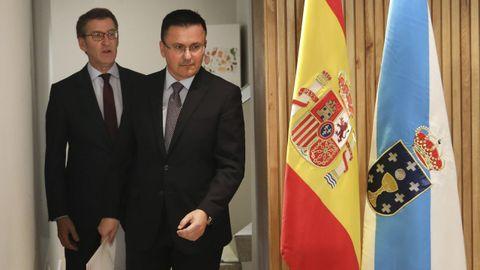 El presidente de la Xunta junto al conselleiro de Medio Rural