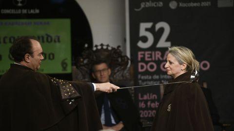 La periodista Amelia Ferreiroa Cuñarro, durante el acto