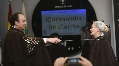 Benedicta Sánchez, que recibió el Goya a la actriz revelación por «O que arde», nombrada comendadora do Cocido