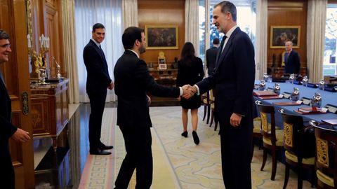 El ministro de Consumo, Alberto Garzón, a su llegada al Palacio de la Zarzuela
