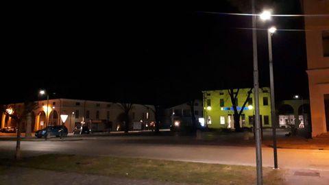 Calles desiertas en el pueblo de Vo Euganeo, donde hay dos contagiados
