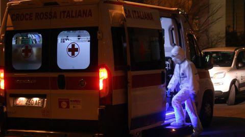 Exterior del hospital de Sacco en Milán, donde están ingresados la mayoría de pacientes