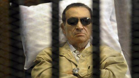 Mubarak, en el 2012, cuando fue juzgado
