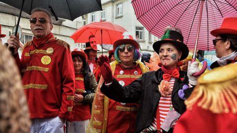 Calles en A Coruña durante el carnaval.