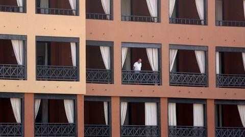 Uno de los huéspedes del hotel aislado en Tenerife