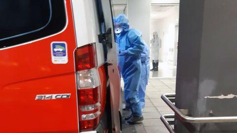 ambulancia, coronavirus, Asturias, Principado, HUCA.Urgencias de HUCA