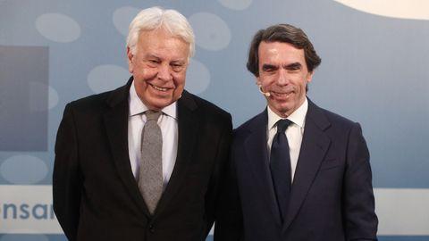 Los expresidentes Felipe González y José María Aznar coincidieron en el Congreso  Repensar España