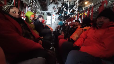 La temperatura en el interior de la avión durante todo el trayecto no superó en ningún momento los cuatro grados