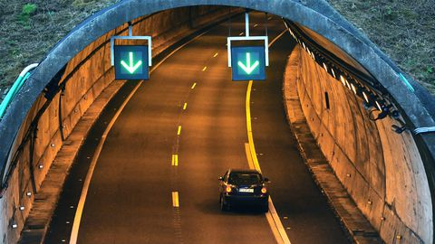 Túnel de O sartego, en la Ap-9