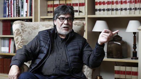 El escritor chileno afincado en Gijón Luis Sepúlveda