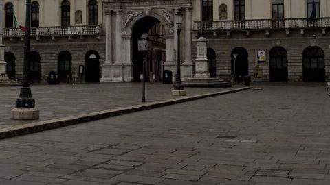 Centro de Padua, sin nadie por la calle