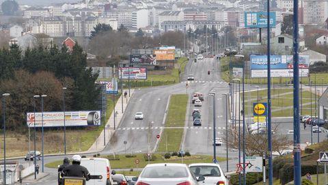 Al fondo el tramom de Duquesa de Lugo que será desdoblado para el tráfico y que llevará carril bici e iluminación
