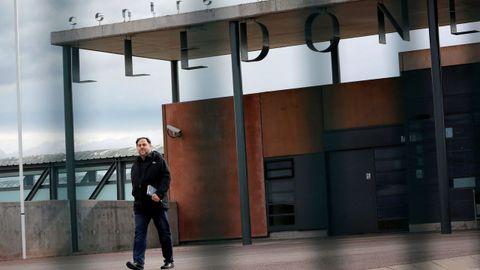 Oriol Junqueras, a su salida de la prision de LLedoners con un permiso de semilibertad para trabajar