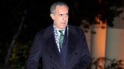 Jaime de Marichalar asiste este miércoles al funeral del empresario Plácido Arango, fallecido el pasado 17 de febrero a los 88 años. EFE/JUANJO MARTÍN