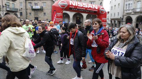 8M en Ourense.La carrera «Soy libre para correr» llenó de deportistas la ciudad