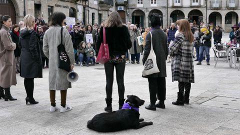 8M Ribadavia.Concentración por el Día da Muller en la capital de O Ribeiro