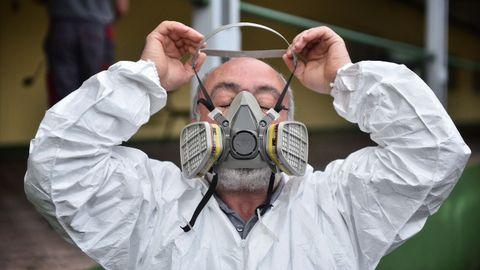 Desinfectan el centro ocupacional de Lamastelle ante la posible presencia de coronavirus