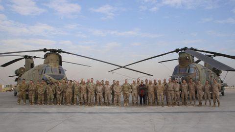 En la base iraquí de Tayi están desplegados unos 80 militares españoles