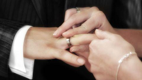 boda, ceremonia, anillos