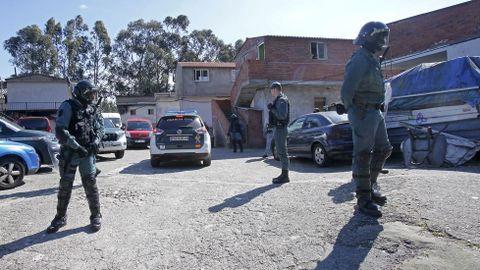 Operación antidroga de la Guardia Civil en el poblado del Vao