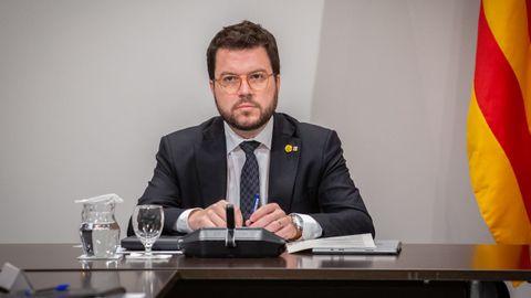 El vicepesidente de la Generalitat, Pere Aragonés